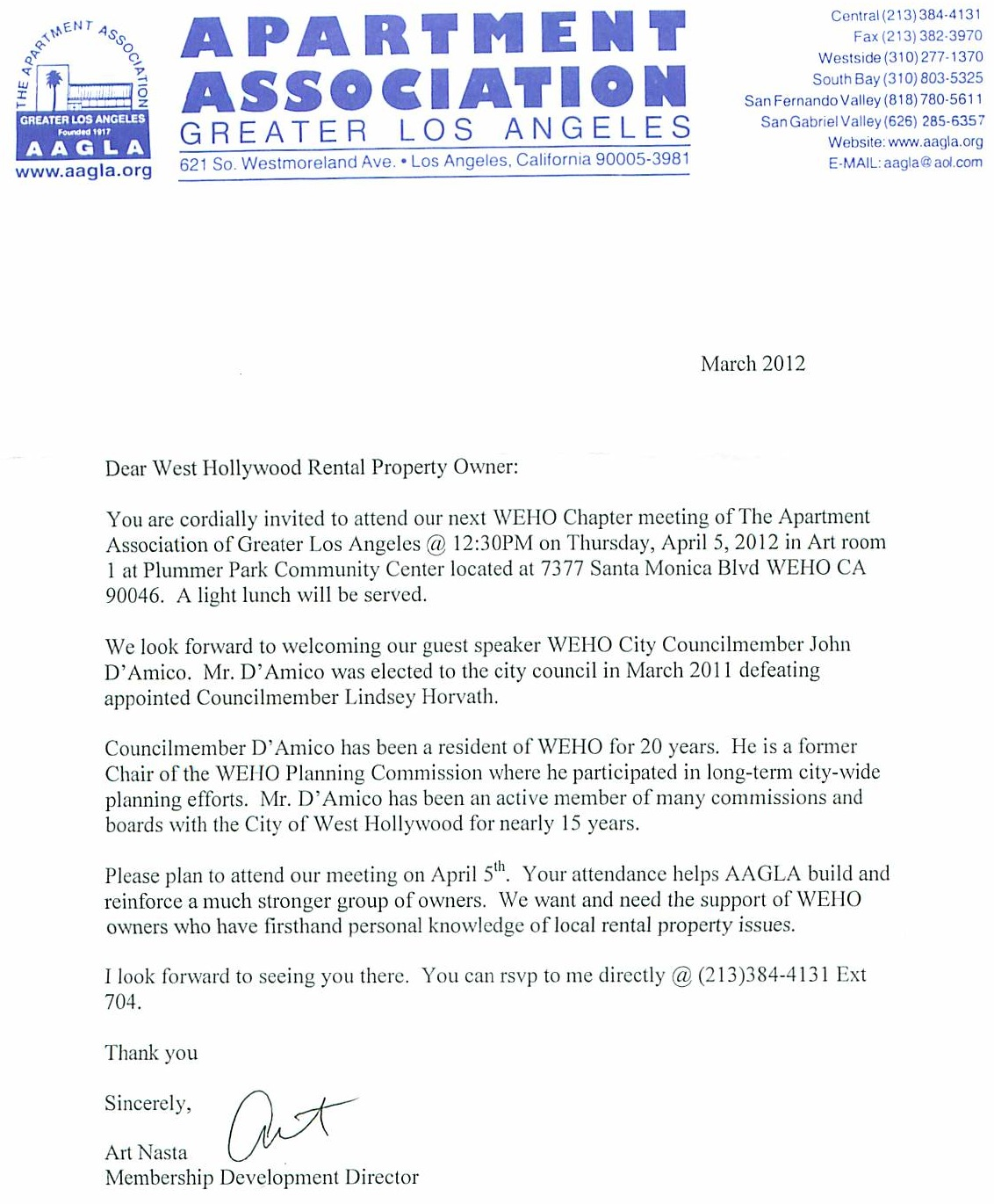 Does West Hollywood City Councilmember John D'Amico's Proposal to Subsidize Landlords With ...
